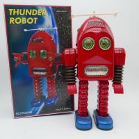 Robot - Thunder Robot - Battery Operated - Vintage metal Robot - Schylling