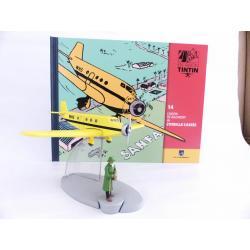 En avion Tintin, l'avion de Bazaroff de L'oreille cassée (n°14)