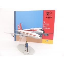 En avion Tintin, le Boeing 707 de la Quantas de Vol 714 pour Sidney (n°15)