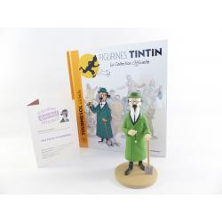Figurine collection officielle Tintin n°3 Tournesol bêche
