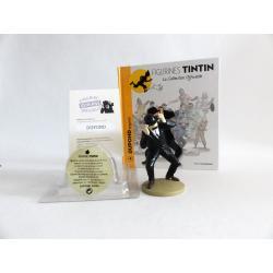 Figurine collection officielle Tintin n°4 Dupond engoncé