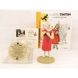 Figurine collection officielle Tintin n°5 La castafiore au perroquet