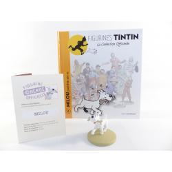 Figurine collection officielle Tintin n°6 Milou promène son os