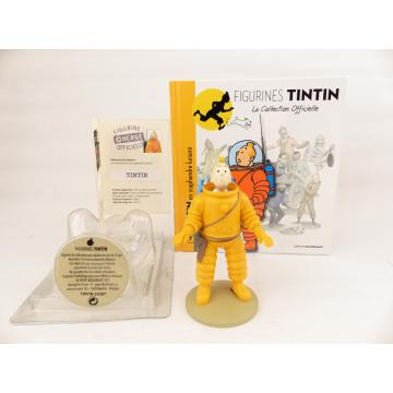 Figurine collection officielle Tintin n°7 Tintin en scaphandre lunaire