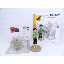 Figurine collection officielle Tintin n°8 Tchang indique Hou Kou