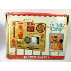 Jeu-Fisher price rétro activity center