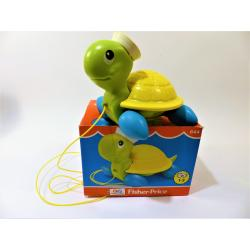 Jeu-Fisher price rétro tortue roulante