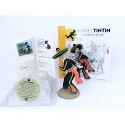 Figurine collection officielle Tintin n°10 Alcazar lanceur de couteau