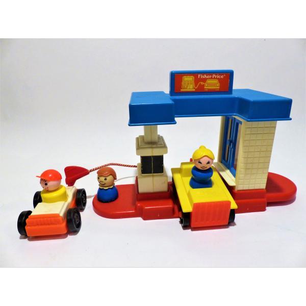 acheter jouets r tro fischer price station service pas cher. Black Bedroom Furniture Sets. Home Design Ideas