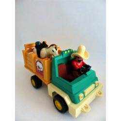 Jeu-Fisher price rétro camion cowboy rodeo rig