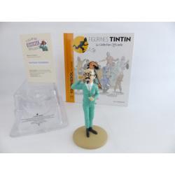 Figurine collection officielle Tintin n°17 Tournesol au cornet