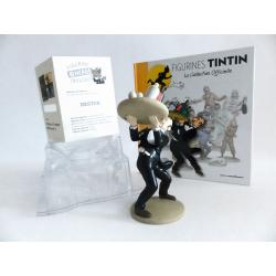 Figurine collection officielle Tintin n°18 Nestor au plateau