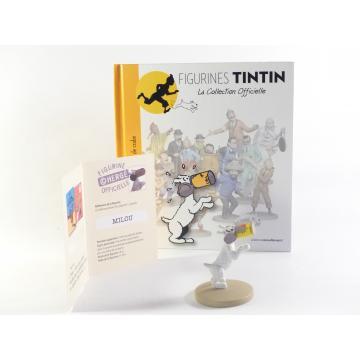 Figurine collection officielle Tintin n°19 Milou coincé dans une boîte de crabe