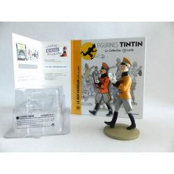 Figurine collection officielle Tintin n°20 Le roi Muskar enfile ses gants
