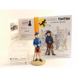Figurine collection officielle Tintin n°22 Tintin en kilt