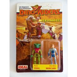 Dino riders-Fang & Mercury-figurines en boîte-IDEAL-1987