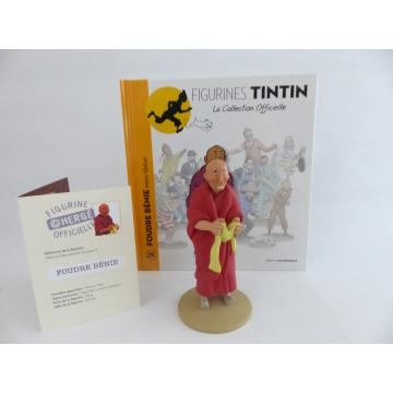 Figurine collection officielle Tintin n°29 Foudre bénie moine tibétain