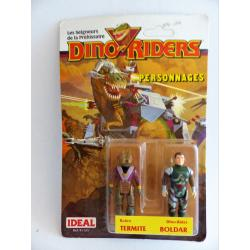 Dino riders-Termite & Boldar-figurines en boîte-IDEAL-1987