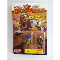 Dino riders-Finn & Quark-figurines en boîte-IDEAL-1987