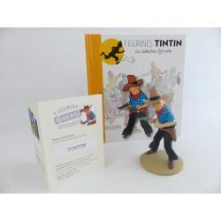 Figurine collection officielle Tintin n°30 Tintin en cowboy
