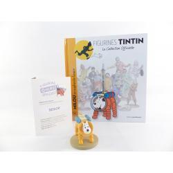 Figurine collection officielle Tintin n°32 Milou en scaphandre lunaire