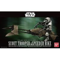 Star Wars-Scoot trooper & Speeder Bike-Maquette-Bandai
