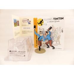 Figurine collection officielle Tintin n°47 Bobby Miles menaçant