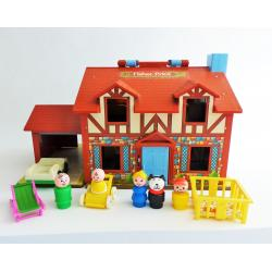 Fisher Price 952 - The house - Play faily -  retro toys