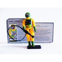 Gi joe - Airtight action figure & file card rétro complete - Hasbro