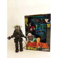 Retro collector plastic tin Robot-  Robby the robot Forbidden planet Vintage - Trendmasters