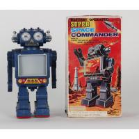 Retro collector metal & plastic tin Robot - Moon explorer Vintage - Toy toy