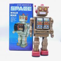 Space walk man - Style Japan Robot Métal vintage - Battery operated